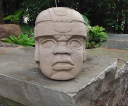 Olmec head replica