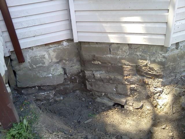 Stone Foundation - Before