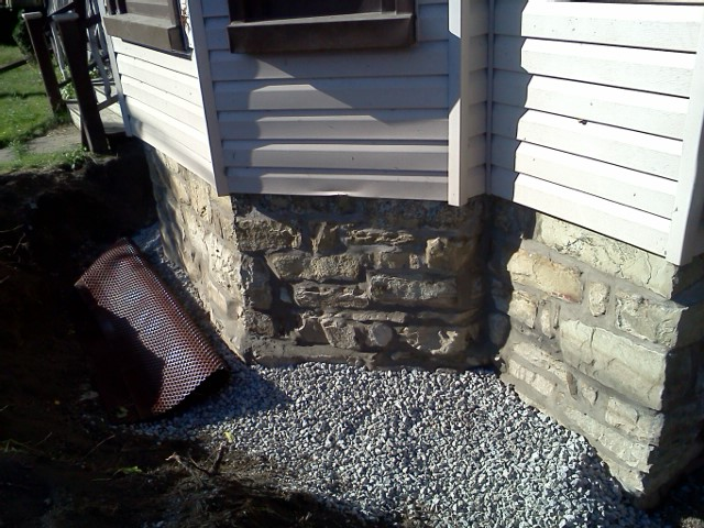 Stone Foundation - After