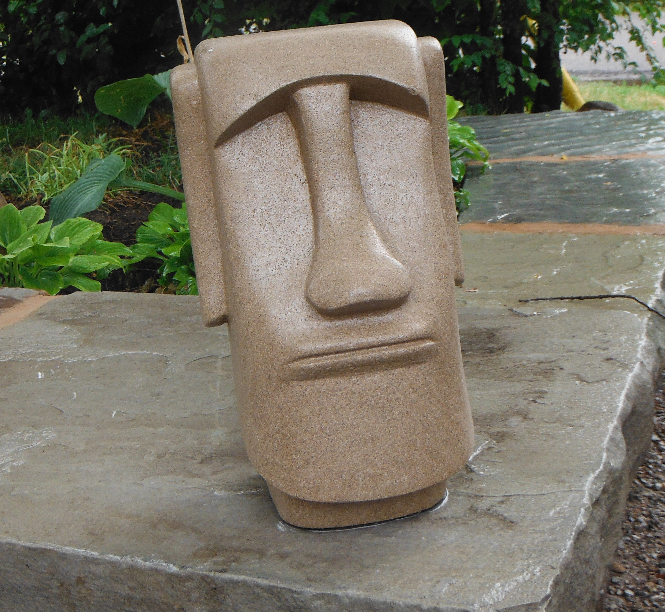 Easter Island head replica