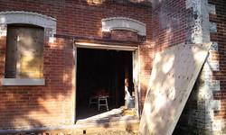 Door opening - before