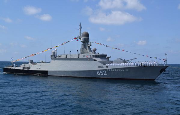 ספינה של הצי הרוסי מול חופי סוריה