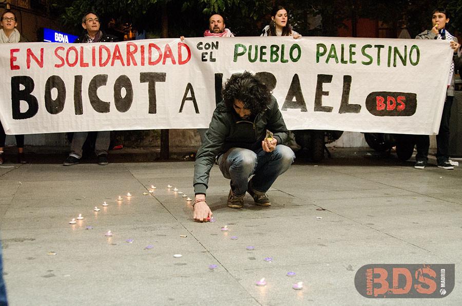 הפגנה אנטי-ישראלית במדריד, ב-2013