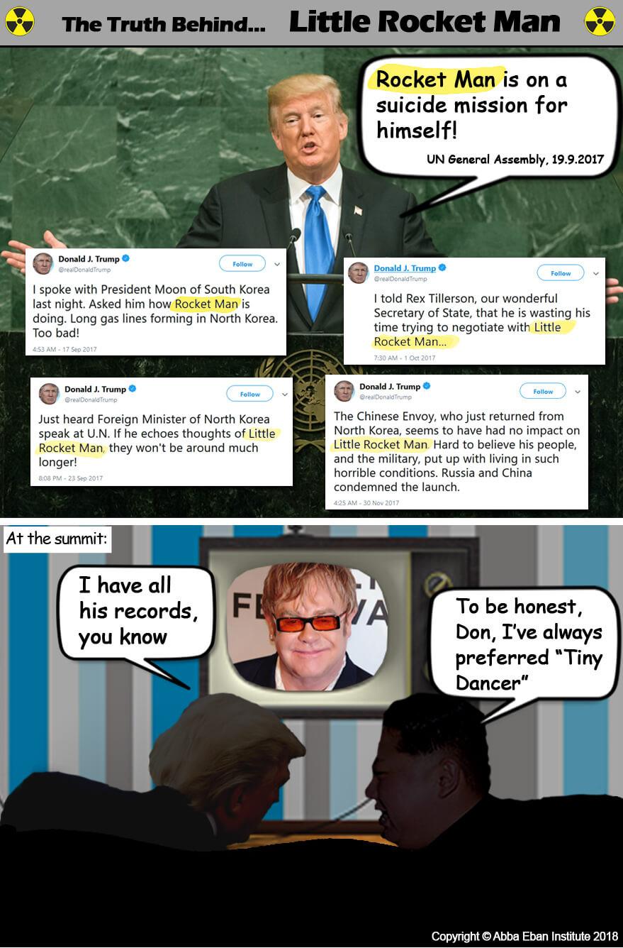 Comic strip about Donald Trump and Kim Jong-un's upcoming summit