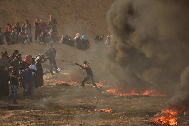 Violent demonstrations in the vicinity of the Israel-Gaza border, June 2018