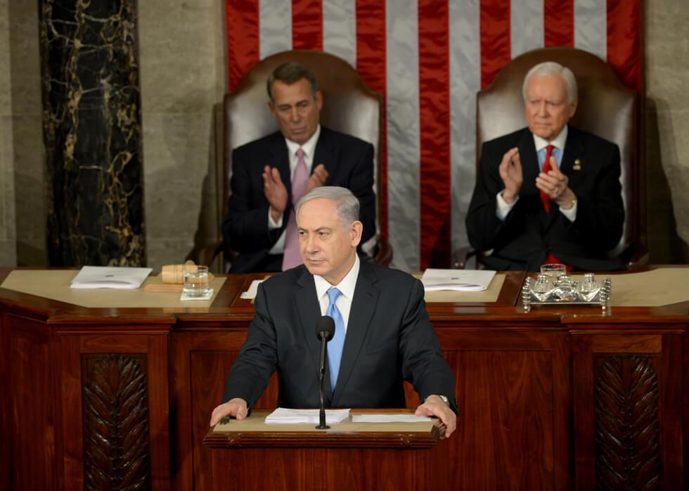 ראש הממשלה נתניהו נואם בפני הקונגרס, שבועיים לפני הבחירות במארס 2015
