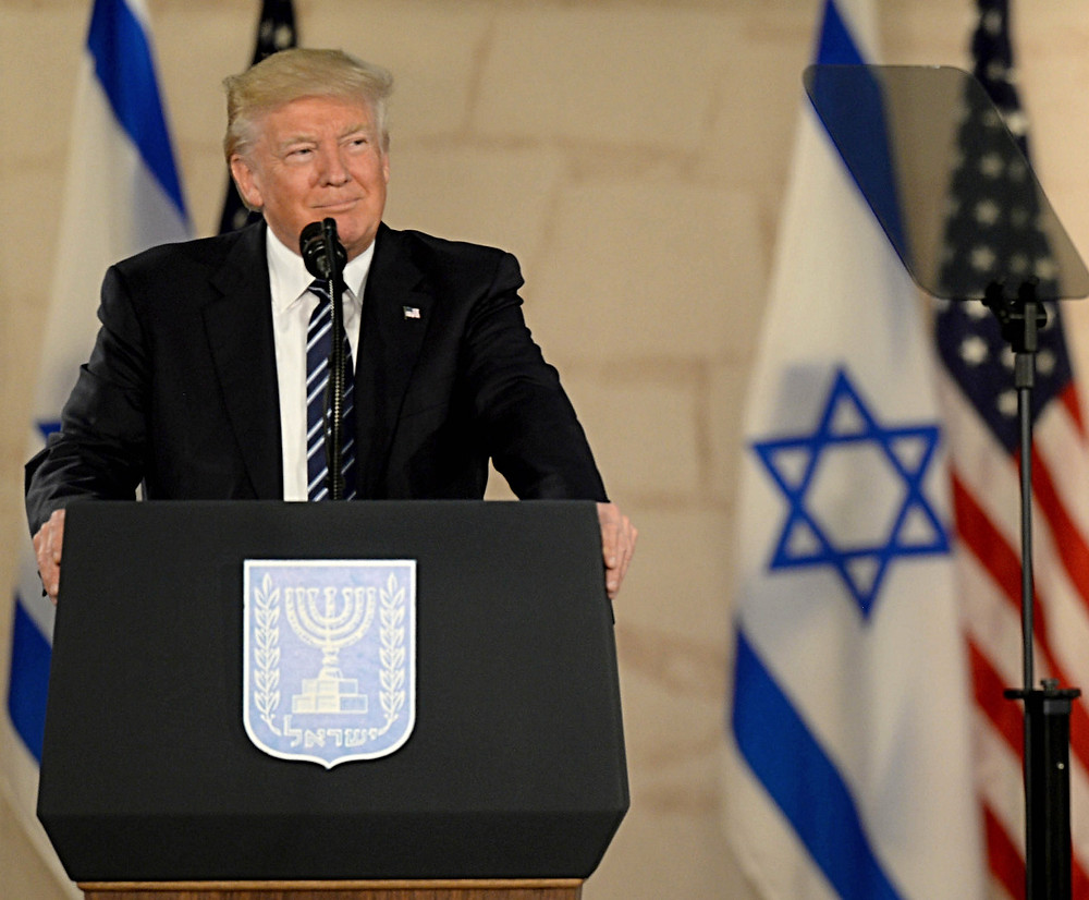 President Trump during his visit to Israel in May 2017