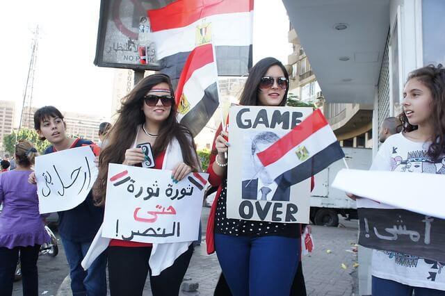 הפגנה נגד מורסי בקהיר ביוני 2013, זמן קצת לפני שהודח על ידי הצבא