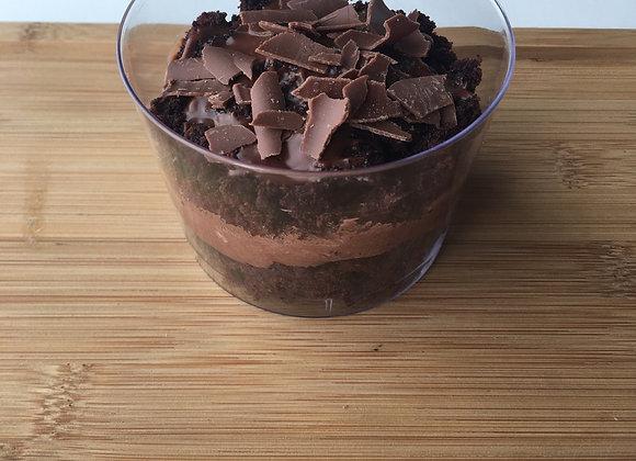 Vasitos tarta de chocolate