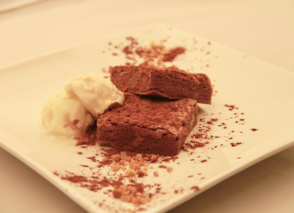 Brownie de chocolate hostelería