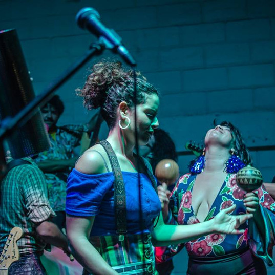 Apresentação da Orquesta Atípica de Lhamas na festa Arraial das Lhamas, no Bar Latino, em 2018