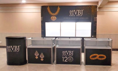 Portable Jewellery Backdrop with shelves