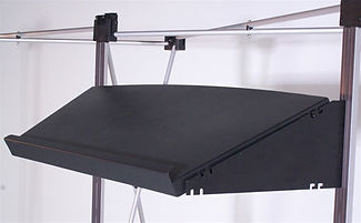 External Inclined shelf system for pop ups