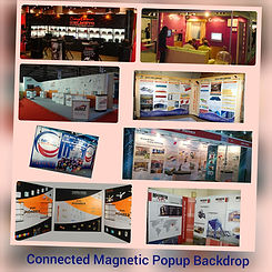 Magnetic popup Tradeshow booths