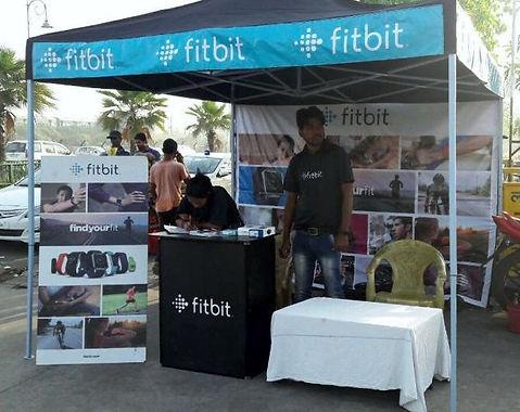 Gazebo Tent as Sales Kiosk for Fit Bit