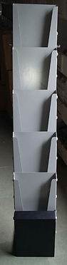 Metal folding brochure stand