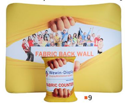 curved cloth banner stand