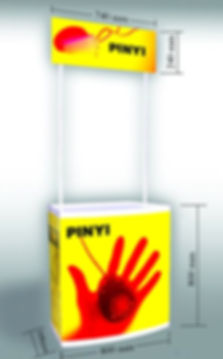 Plastic Promotion table standard size