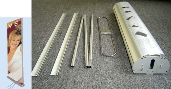 parts of Double Roll up Banner Stand