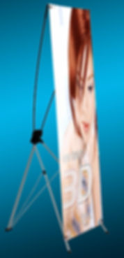 luxury or deluxe X banner stand