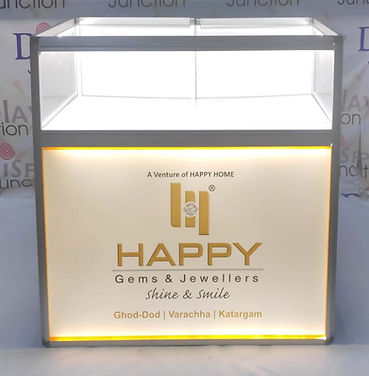 LED Lighted Jewelry Display Counter with Backlit sign