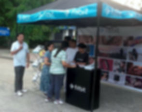 10 x 10 feet Popup tent with Secure promotion table