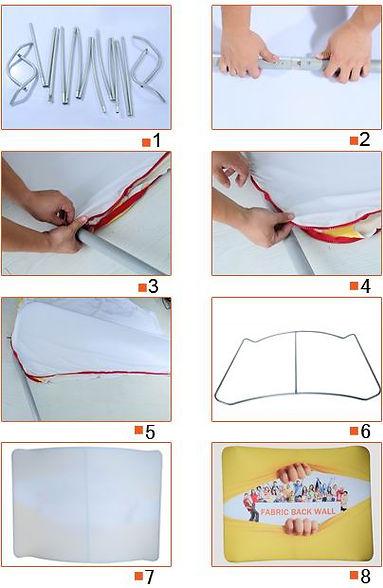 tubular tension cloth banner stand