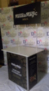 Screen promotion table side view