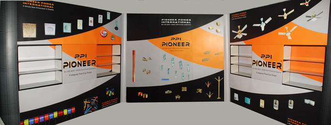 3 x 3 meters all wall Magnetic Shelf Popup