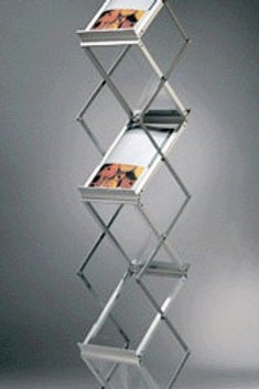 Zig Zag Aluminum Brochure stand