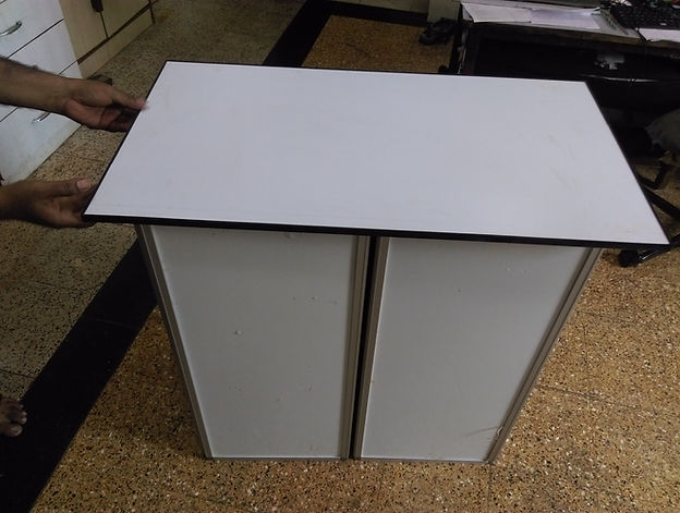 Secure promotion table with top