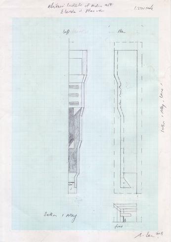 Michael Lee, BIMA sketch, 2019, pencil o
