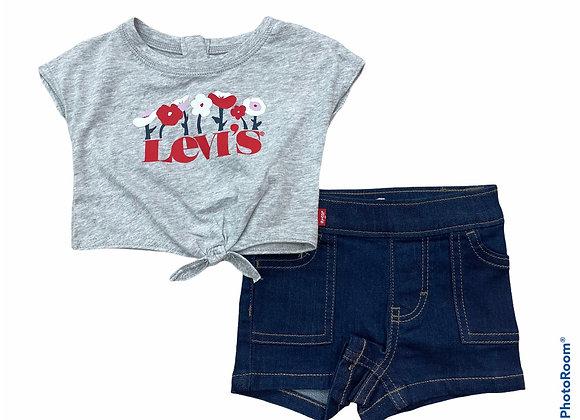 ensemble t-shirt + short Levi's