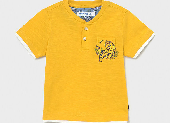 t-shirt manche courte jaune Mayoral