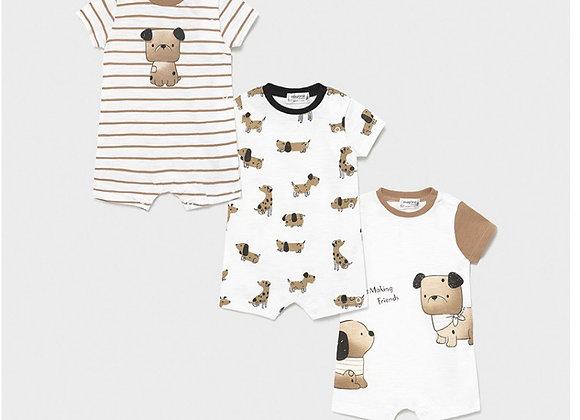 Set 3 pyjamas tricot nouveau-né garçon Mayoral