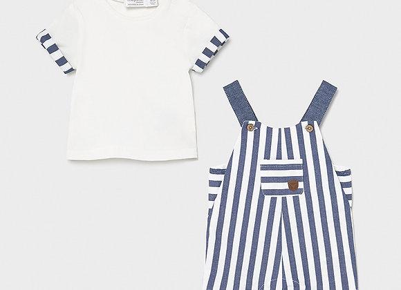 ensemble salopette+t-shirt Mayoral
