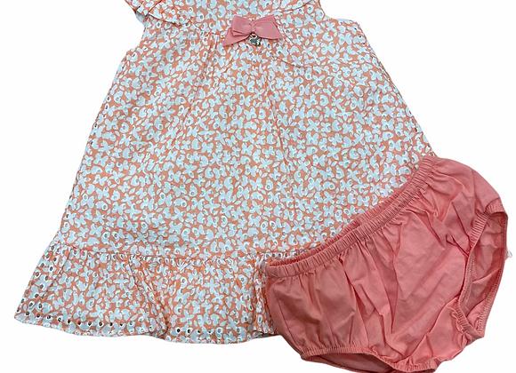 robe mandarine papillon naissance fille Mayoral