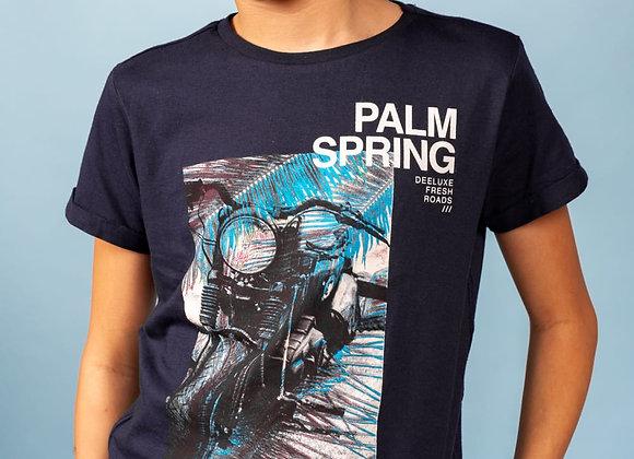 "t-shirt imprimé moto ""motopalm"" Deeluxe"