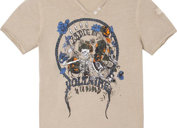 t-shirt col tunisien Zadig&Voltaire