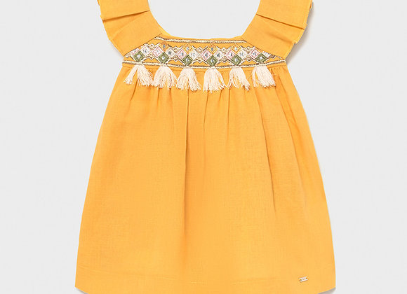 Robe lin broderie Mayoral