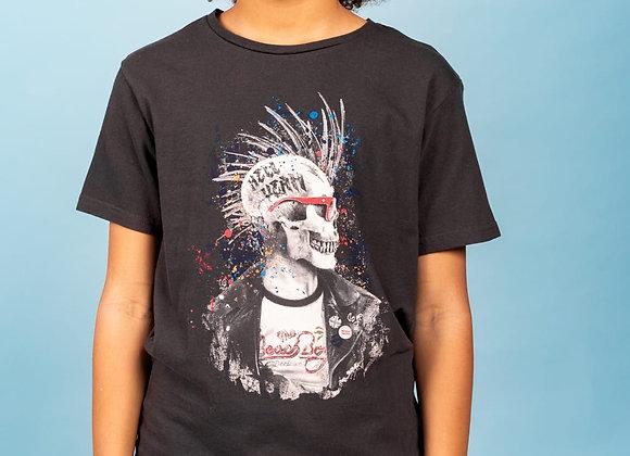 "t-shirt dessin tête de mort ""Enfieldon"" Deeluxe"