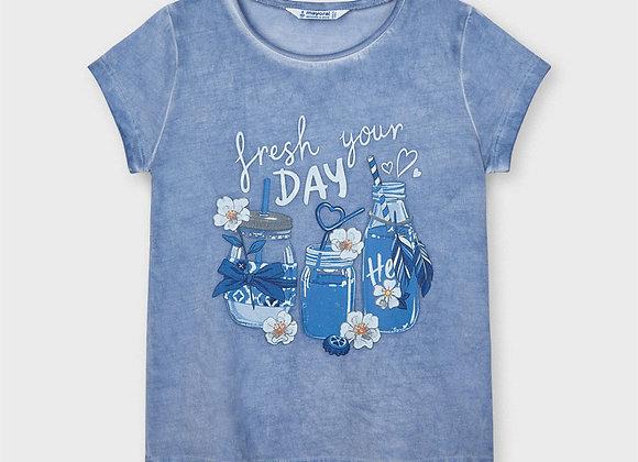 t-shirt bleu lavande Mayoral