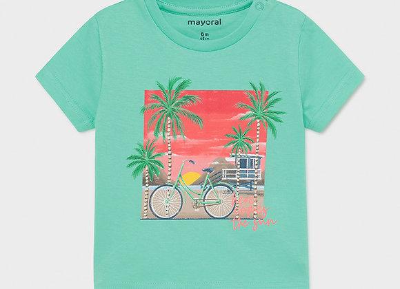 t-shirt coton aqua Mayoral