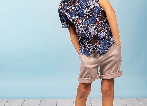 """chemise manches courtes à imprimé """"tropic"""" Deeluxe"""