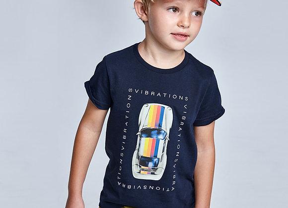 T-shirt voiture coton durable écofriends garçon marine Mayoral