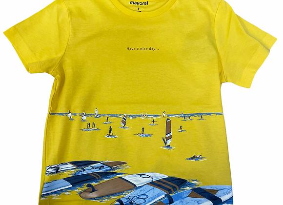 t-shirt  coton Ecofriends paddle Mayoral