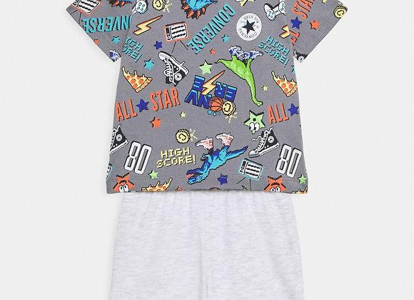 ensemble t-shirt + short Converse
