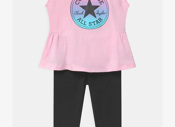 ensemble t-shirt +legging Converse