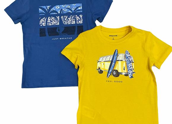 lot de 2 t-shirts mer Mayoral