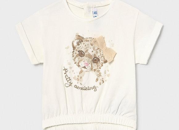 t-shirt manche courte léopard Mayoral